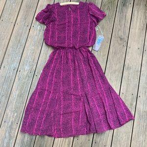Deadstock Vintage 80s Stranger Things Style Dress